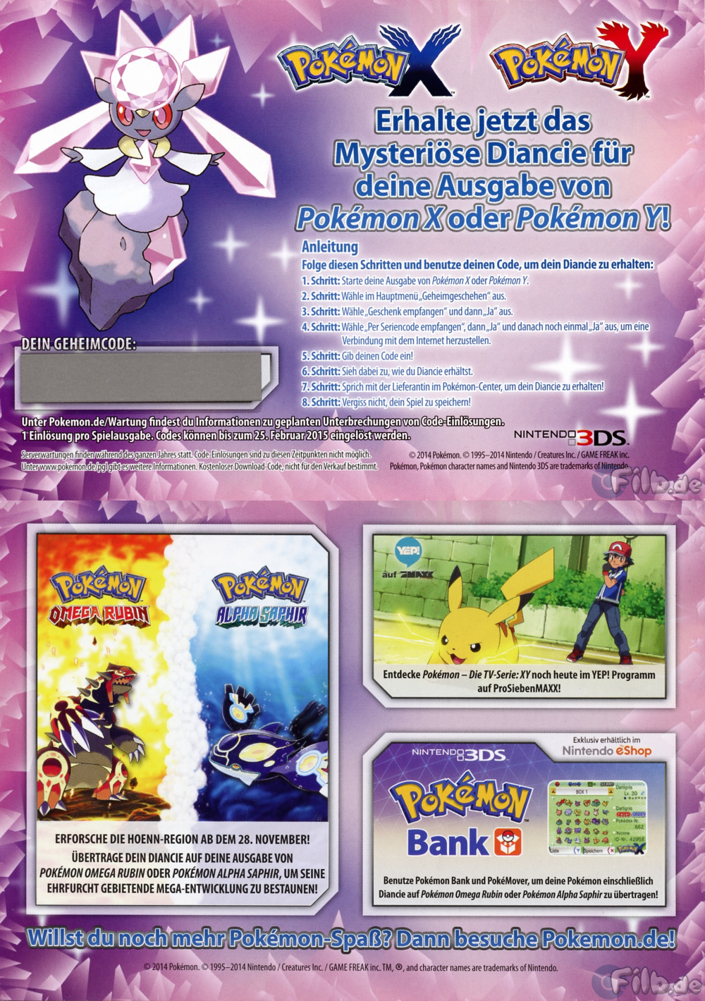 how to get diancie without code