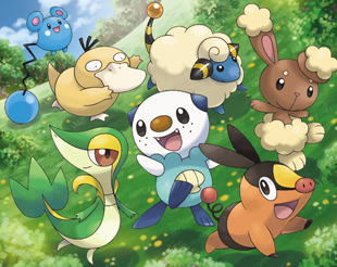 Starters, Psyduck, Azurill, Mareep, and Buneary